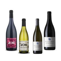 """Wijnproefdoos: """"lekker buiten genieten"""". Van elk drie flessen."""